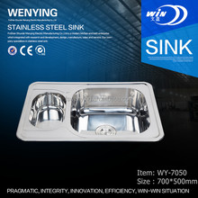 WY-7050 ISO9001:2008 certificated ware sanitary of kitchen double sink to Russian market from Chinese factory
