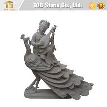 Peacock and fairy maiden sculpture buy buddha statue