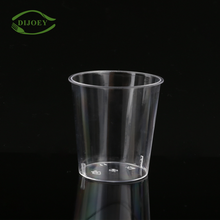 Low price different size ps 1oz hard transparent plastic disposable juice cup