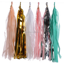5pcs/set Hanging Tissue Paper Tassels Garland Kit Wedding Party Backdrop Decorations