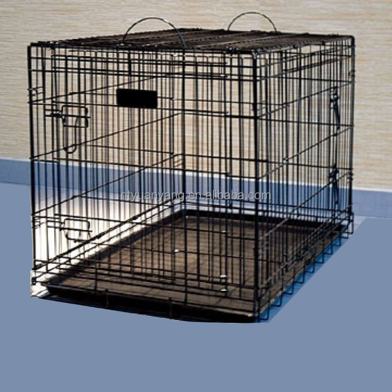 blue foldable wire pet cages crate kennel dog house metal pan price