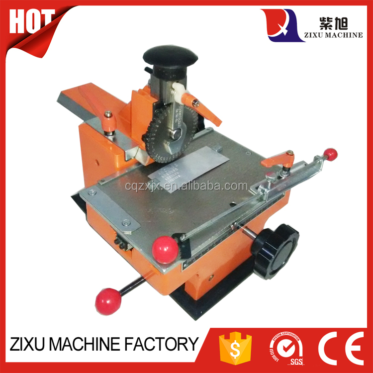 New Cheap Small Manual Metal Number Plate Embossing Press Machine