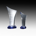 Elegant cheap custom crystal trophy glass award wholesale