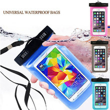 PVC Bag Waterproof Case Pouch Phone Cases For Iphone7/7plus Underwater Phone Bag For Galaxy S8 S7 S6 S5