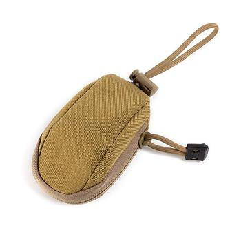 Coyote Tan Tactical Pouch Keychain Pouch Durable Coin Purse with Retractable Key Holder