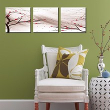 3 Panel Plum Blossom Winter Flower Oil Painting Pictures Prints On Canvas Wall Art For Home Deco