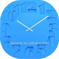 Christmas Gift 3D Wall Clock Square Shape