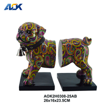 Craft Gift Dog Animal Ornaments Antique Home Decoration Items