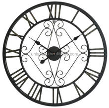"30"" Large Iron Silent sweep movement wall clock"