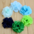 sweet lovely chiffon rosette flower , rolled rosette for decoration