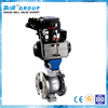 DN50 A216 WCB Single Acting Pneumatic Flanged Ball Valve