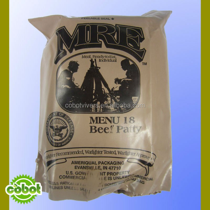 Mre meals ready to eat, military mre meals for Africa market