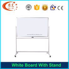 Wholesale high quality mible magnetic white melamine board with wheels whiteboard for classroom