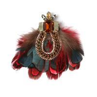 badu fashion custom jewelry clothes women vintage elegant feather brooch women