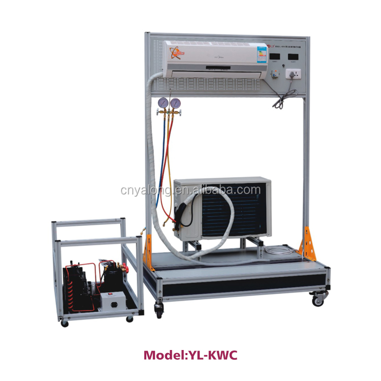 Air Conditioning Assemble & Maintenance Electric Trainer , Laboratory Training Unit , Education Kit , Vocational Skill Lab