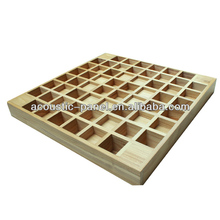 China 3D solid wooden QRD sound diffuser sound reflector acoustic panel