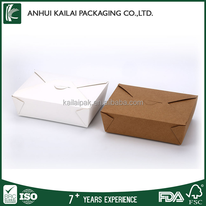 Custom Disposable Printed Paper Fast Food Packaging Box, Healthy Recycle Paper Take Away Box Packaging