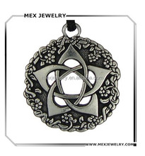 Made in china sale zinc alloy charms custom talisman pentacle pentagram pendant