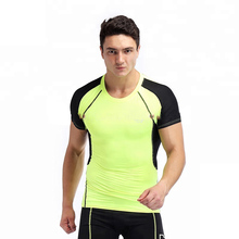 Wholesale Athletic Training Muscle Fit Short Sleeve Shirt <strong>Mens</strong> Bodybuilding Fitness <strong>Apparel</strong>