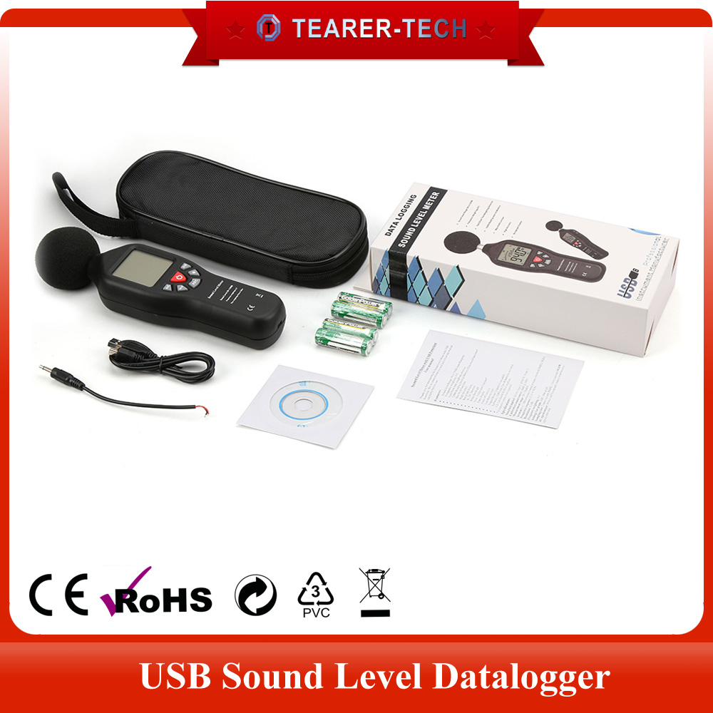 Red color USB sound level meter digital noise meter with datalogger for sale TL-200