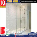 Guangzhou Alufront High quality glass aluminum frame shower doors with high quality SS 316 fittings