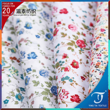 organic cotton printed poplin fabric printed wholesale 100% cotton printed poplin fabric for shirts dress