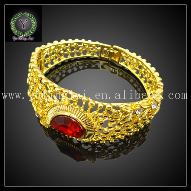 Dubai luxury 24K gold plated color crystal stone jewelry sets south africa Bridal Jewelry set