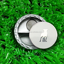1 inch magnetic hat clips and golf ball markers with custom logo