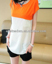 2013 SUMMER NEW STYLE BEAUTIFUL YOUNG GIRLS CHIFFON BLOUSES