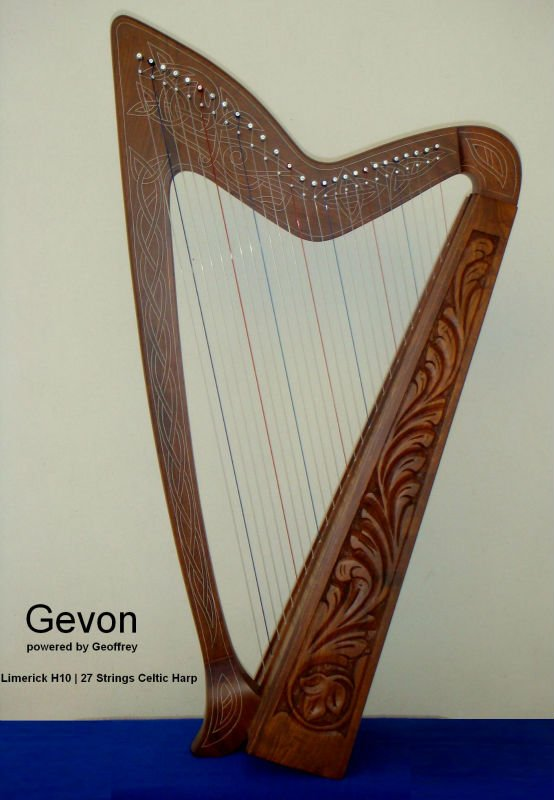 Gevon Rosewood Irish Celtic Harp | 27 strings | Limerick H10