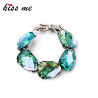 Charm Europe Popular 2015 Trendy Chunky Party Turquoise Bracelet
