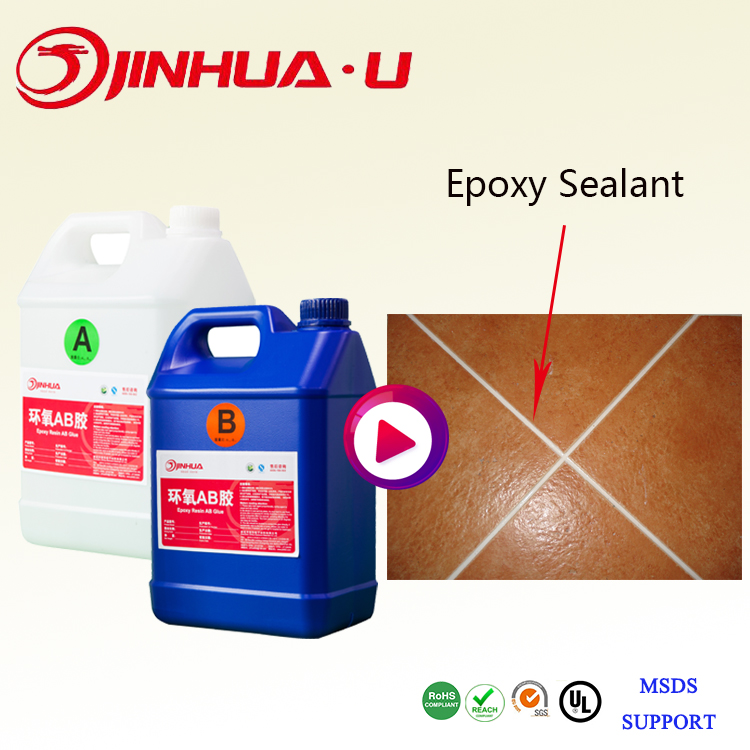2017 New Product 20% Glitter Pigment And 10%Pearl Pigment Liquid Epoxy Sealant 2:1 For Ceramic Floor