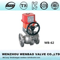 WB-62 2pc Motorized ball valve, ball valve with electric actuator, electric flanged ball valve Wenzhou