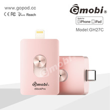 Niche Market Gmobi H27C USB Flash Drive External Memory Stick OTG System For iPhone, iPad, New Macbook