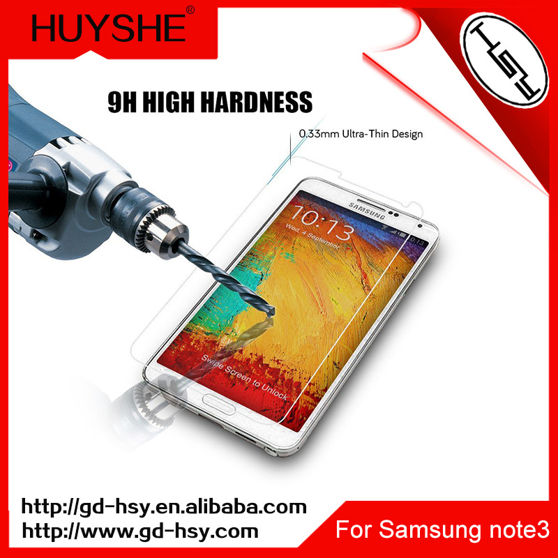 HUYSHE 9h 0.3mm lcd tv screen protector for samsung note3
