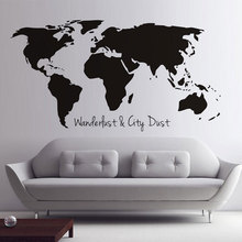 Wholesale custom fashion map& brick wall sticker decoration