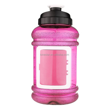 Amazon top selling Best colorful plastic 2200ml wide mouth water bottle with lid in CA
