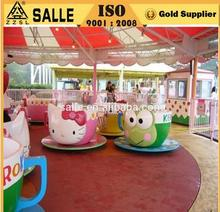 Kids games 9 Cups animal coffee cup Hello Kitty amusement park rides for sale