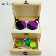 2 Layer Large 420 Locking Stash Jars Wax Storage Box include Dab Tools Dab Container
