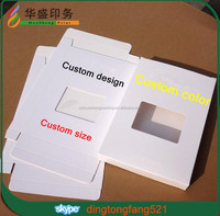 Matt lamination white custom design print paper box wholesale with window