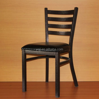 Good quality black metal bistro chairs