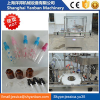 2016 Shanghai Good performace automatic small perfume bottle filling capping machine , liquid sprayer filling production line