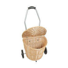 Wholesales Wicker Basket Trolley, Willow Market Trolley, Classic willow cart