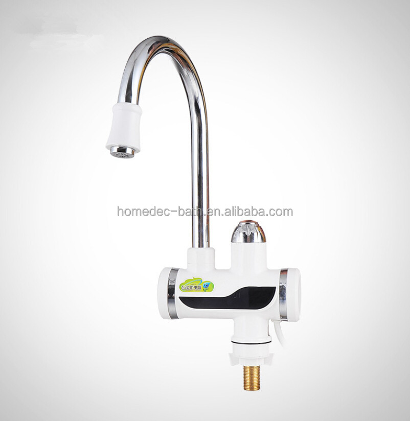 ABS plastic instant hot water tap LCD electric heater faucet heating water faucet