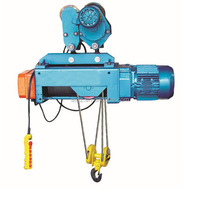 10% discount Crane hometown single speed 1 ton light duty electric hoist lifting machine/wire rope hoist