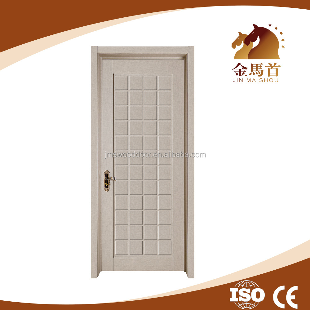 Cheap Interior Plain White Pvc Bathroom Door Price,Inner Wood Toilet Door