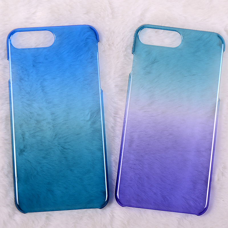 Special UV PC case hard cover for iphone7 plus back with gradual change colors
