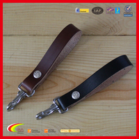Leather Key Belt Loop Holder Purse Strap Clip Key Chain, Best Selling Leather Car Key Strap