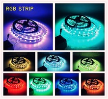 High capacity!!! wireless led light bar 60leds/m 5M 5050 SMD RGB Led strip light passed CE.ROHS,FCC