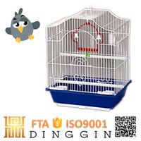 Galvanized welded iron bird cage